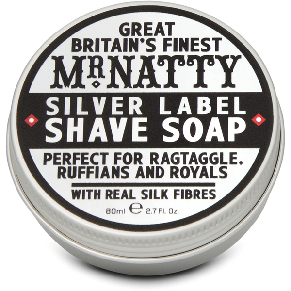 Mr Natty Silver Label Shave Soap 80ml