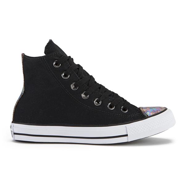 4a0d889969c Converse Women's Chuck Taylor All Star Oil Slick Toe Cap Hi-Top Trainers -  Black | FREE UK Delivery | Allsole