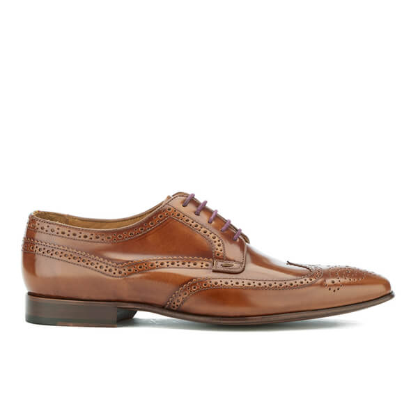 PS by Paul Smith Men's Aldrich High Shine Leather Brogues - Tan Hobar