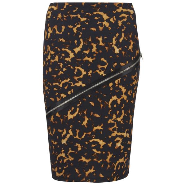 McQ Alexander McQueen Women's Zip Contour Skirt - Tortoises