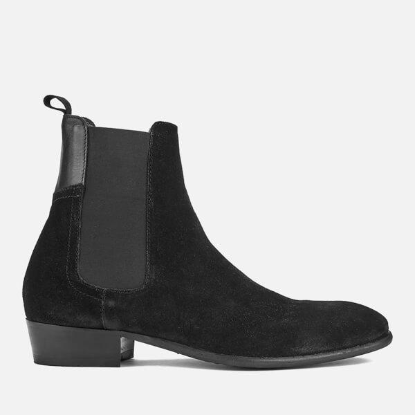 Hudson London Men's Watts Suede Chelsea Boots - Black