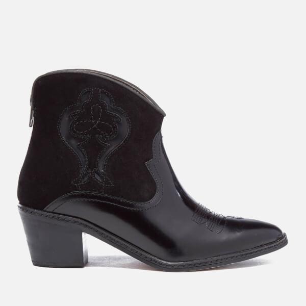 Hudson London Women's Leon Hi Shine Western Boots - Black