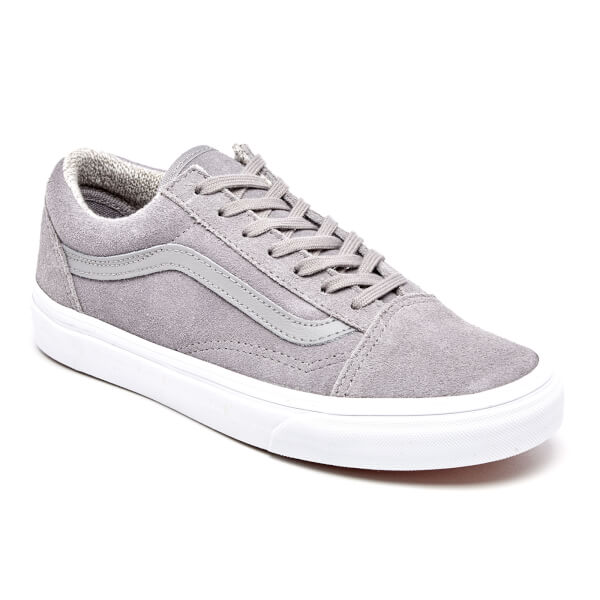 Vans Women s Old Skool Suede Woven Trainers - Gray True White Womens ... 8051cfe36b