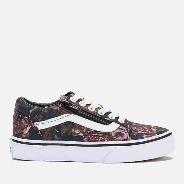 Vans Kids' Old Skool Zip Trainers - Moody Floral/Black/True White