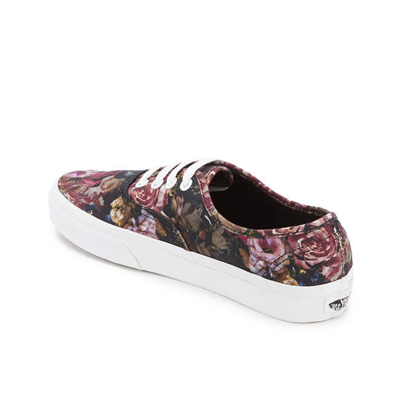 d7a03c9a2d Vans Women s Authentic Floral Trainers - Moody Floral Black True White   Image 4