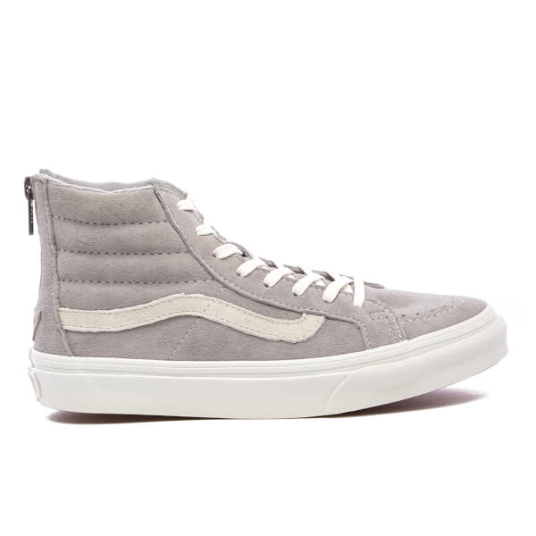 Vans Women's Sk8-Hi Slim Zip Trainers - Cool Grey/Blanc De Blanc
