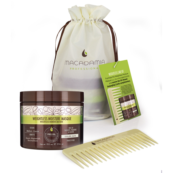 Macadamia Weightless Care Kit - Masque and Comb