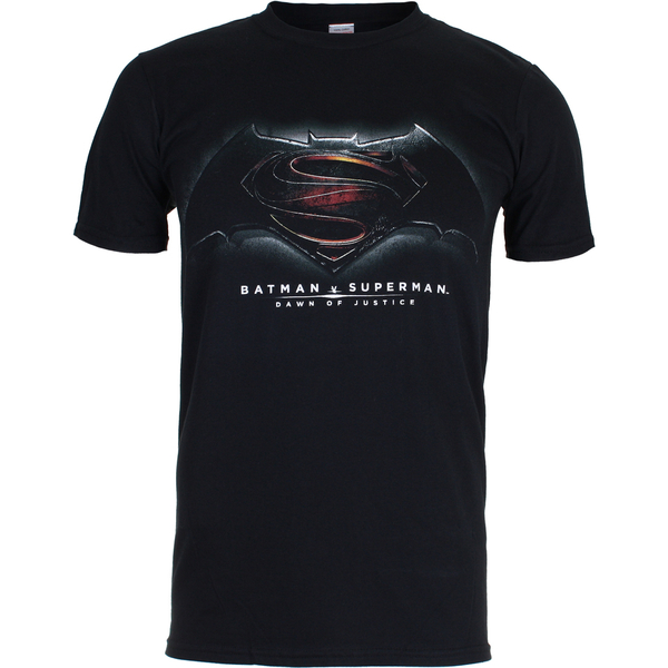 DC Comics Batman v Superman Men's Dawn of Justice T-Shirt - Black