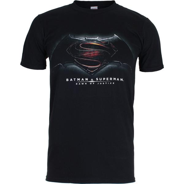 DC Comics Men's Batman v Superman Men's Dawn of Justice T-Shirt - Black