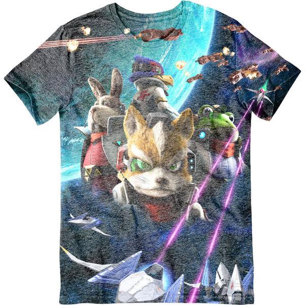 Star Fox Zero Character T-Shirt - Multi