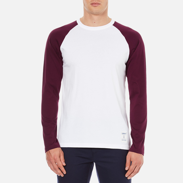 Carhartt men 39 s long sleeve dodgers t shirt white chianti for Carhartt long sleeve t shirts white