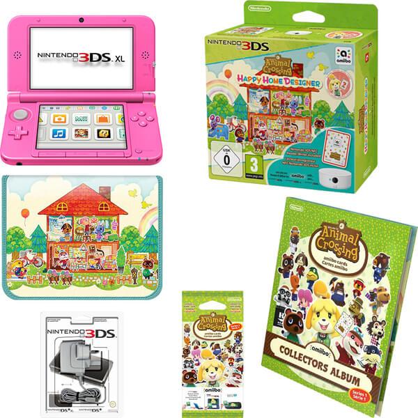 Nintendo 3ds xl pink animal crossing happy home - Animal crossing happy home designer 3ds case ...