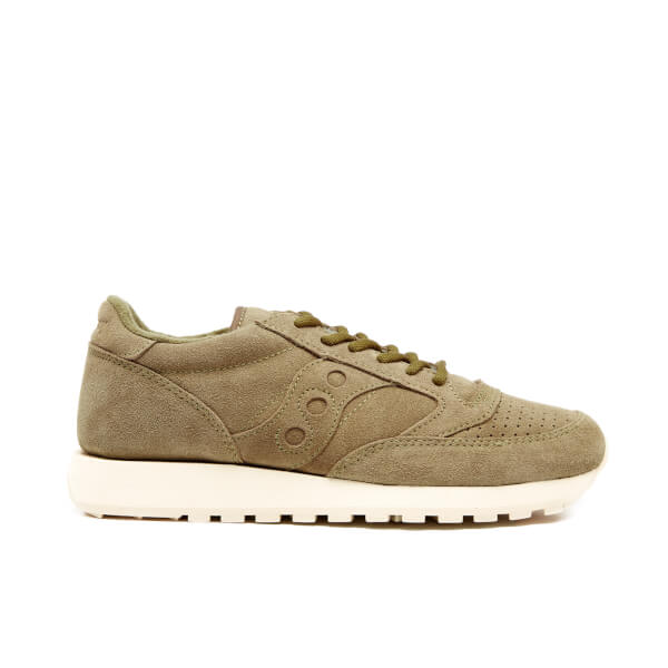 Saucony Men's Premium Jazz Original Suede Trainers - Olive