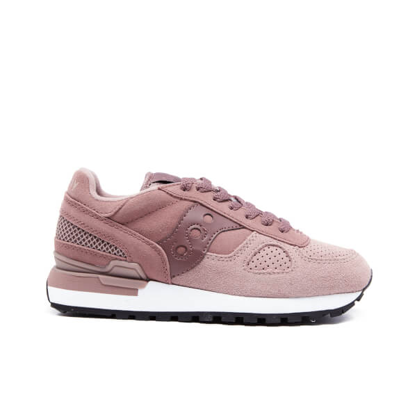 Saucony Women's Shadow Original Suede Trainers - Plum