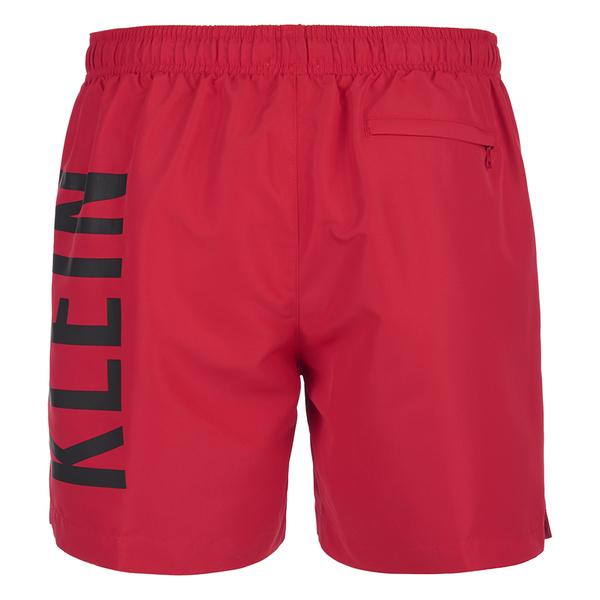 18851006a3 Calvin Klein Men's CK One Logo Intense Power Swim Shorts - Chinese Red:  Image 2