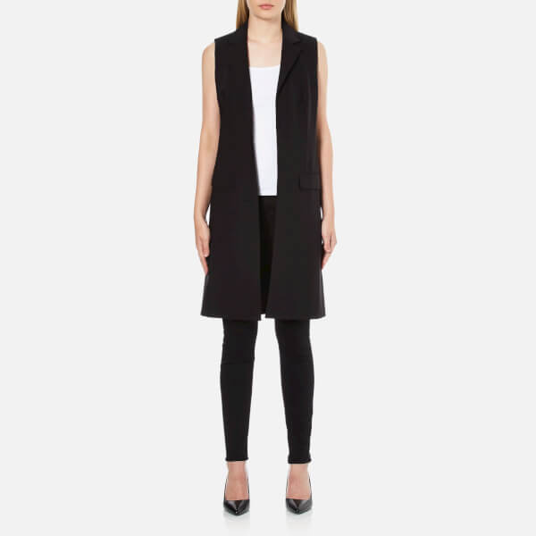 MICHAEL MICHAEL KORS Women's Long Trop Wool Vest Blazer - Black
