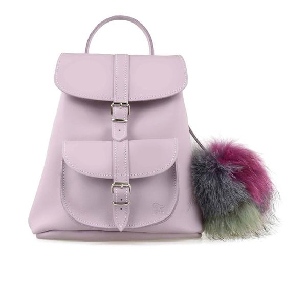 Grafea Women's Valerie Fur Pom Backpack - Lilac