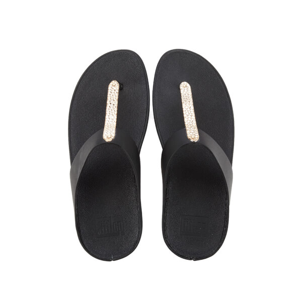 4efee696c7ecf FitFlop Women s Barrio Leather Toe-Post Sandals - Black Womens ...