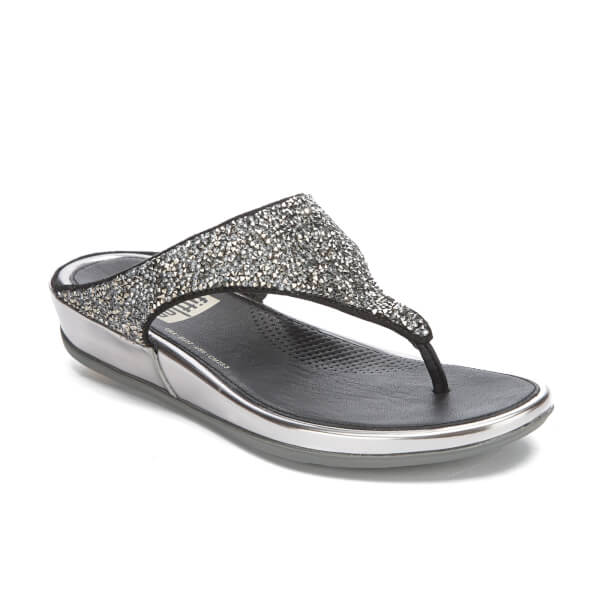 e2a4dbfa9382bd FitFlop Women s Banda Roxy Toe-Post Sandals - Pewter  Image 2