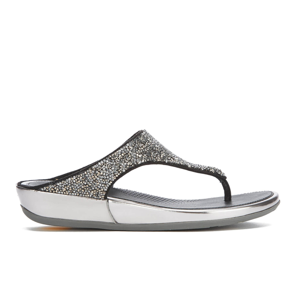 b310beb9a50ad8 FitFlop Women s Banda Roxy Toe-Post Sandals - Pewter Womens Footwear ...