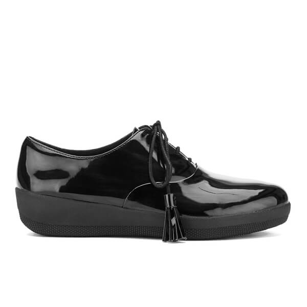 FitFlop Women's Classic Tassel Superoxford Patent Shoes - All Black
