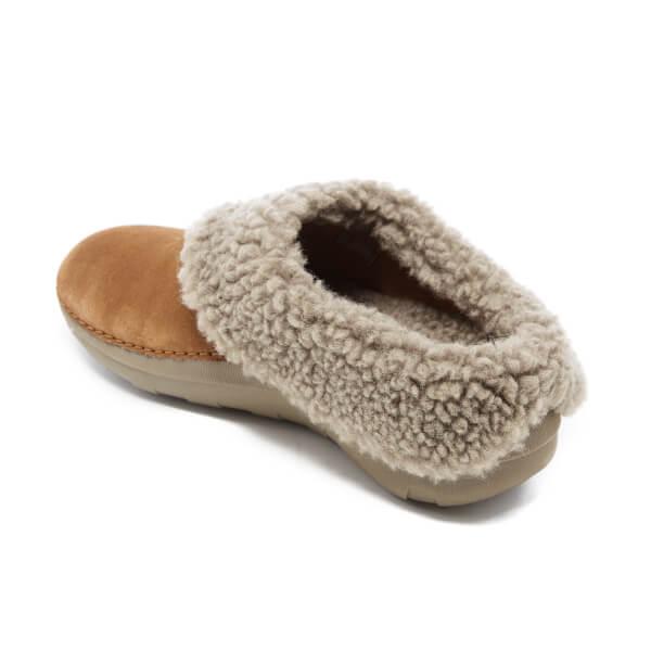 33ddef5a42e FitFlop Women s Loaff Suede Snug Slippers - Chestnut Womens Footwear ...