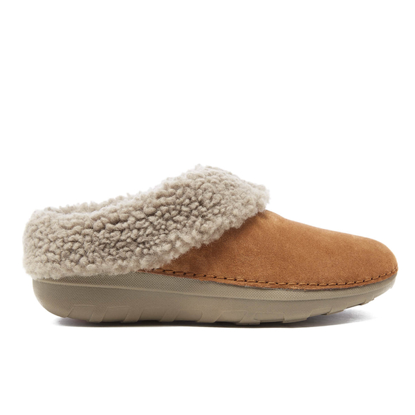 FitFlop Women's Loaff Suede Snug Slippers - Chestnut