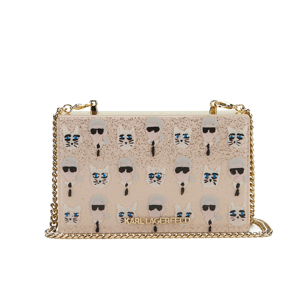 Karl Lagerfeld Women's Karl The Artist Minaudiere Clutch Bag - Nude