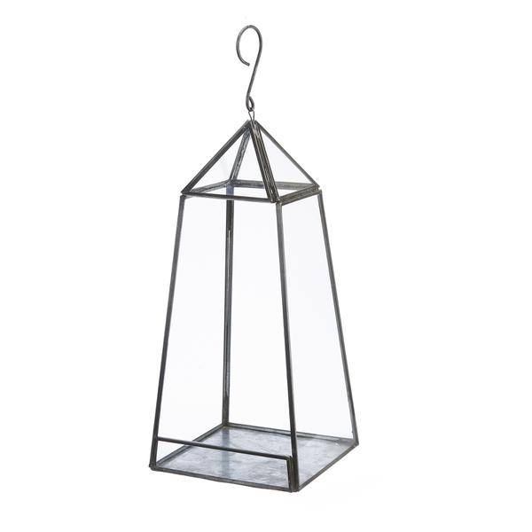 Nkuku Aculo Hanging Planter - Antique Zinc - Large