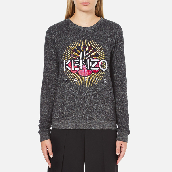 KENZO Women's Tenamie Flower Sweatshirt - Dark Grey