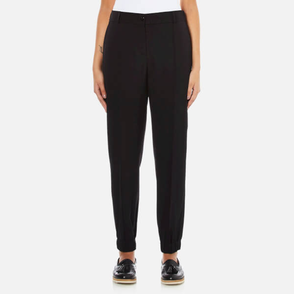 KENZO Women's Cuff Bottom Smart Trousers - Black