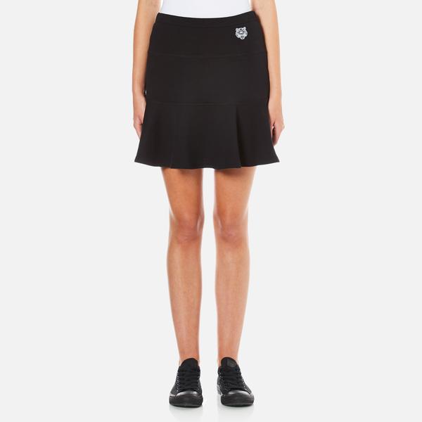 KENZO Women's Tiger Logo Flared Skirt - Black