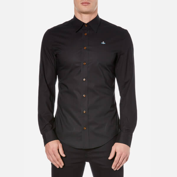 Vivienne Westwood MAN Men's Poplin Stretch Shirt - Black
