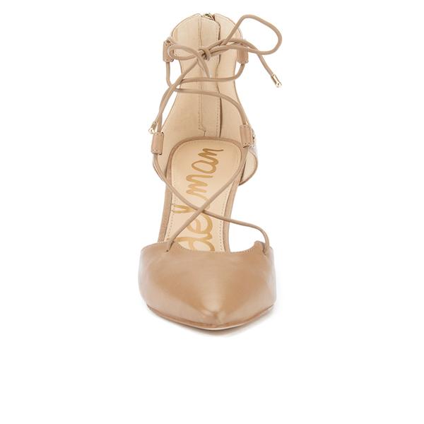 d8f84948c Sam Edelman Women s Taylor Leather Lace Up Court Shoes - Golden Caramel   Image 4