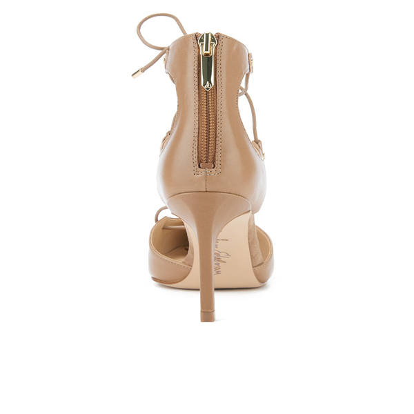 5dec51656 Sam Edelman Women s Taylor Leather Lace Up Court Shoes - Golden Caramel   Image 3