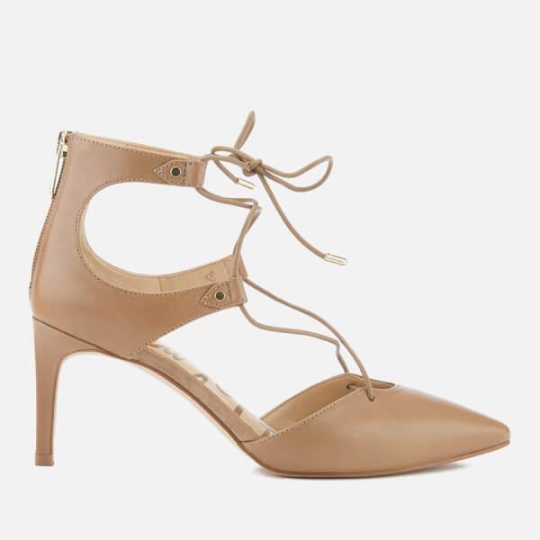 359fabe55 Sam Edelman Women s Taylor Leather Lace Up Court Shoes - Golden Caramel