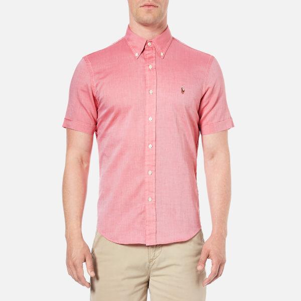 Polo Ralph Lauren Men's Short Sleeve Oxford Shirt - Spanish Red