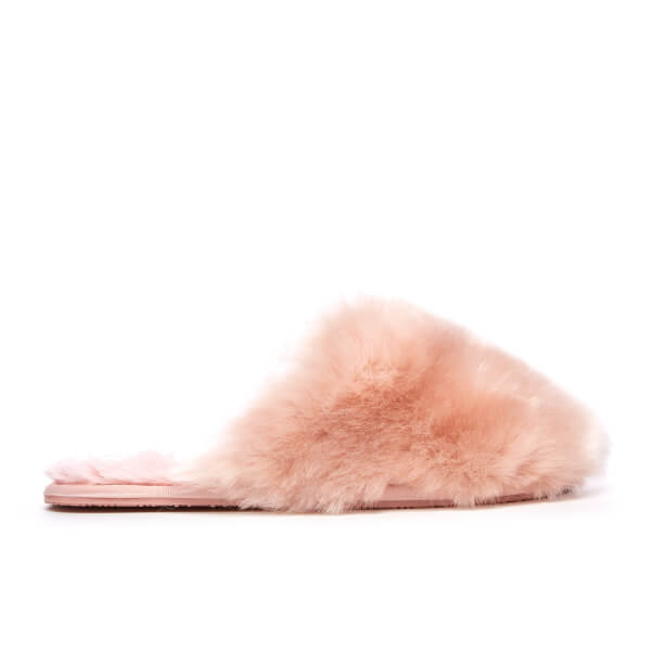 5f0a79cde595b1 Ted Baker Women s Hawleth Faux Fur Slippers - Light Pink