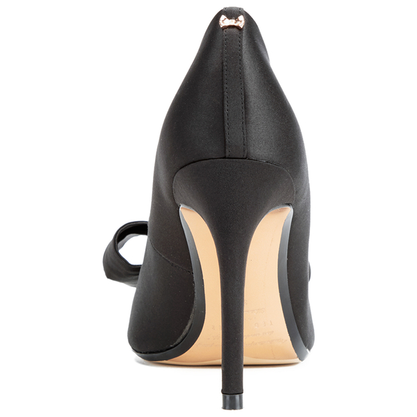 c3409b0add7e Ted Baker Women s Ichlibi Satin Bow Toe Court Shoes - Black  Image 3