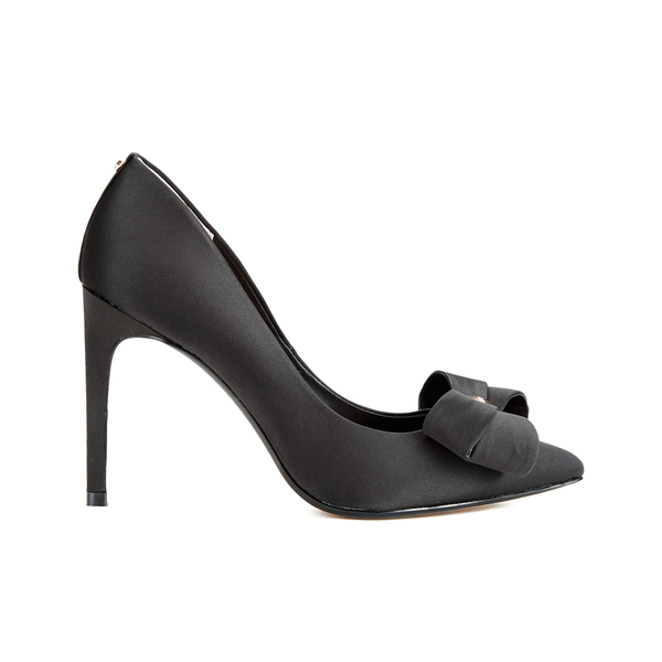 Ted Baker Women's Ichlibi Satin Bow Toe Court Shoes - Black