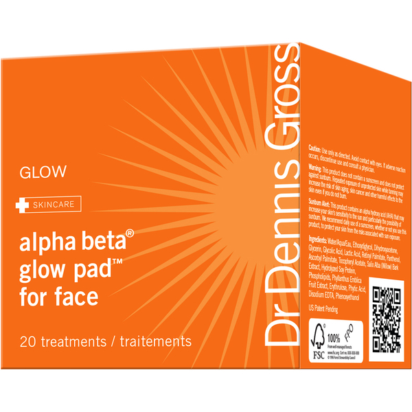 Dr Dennis Gross Alpha Beta Glow Pad for Face (20 Pack)