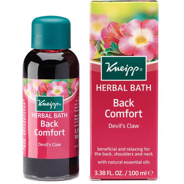 Huile de bain herbale confort du dos Devil's Claw de Kneipp (100 ml)