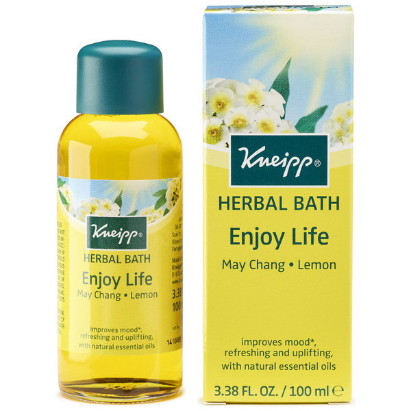 Huile de bain herbal Enjoy Life citron et may chang Kneipp (100 ml)