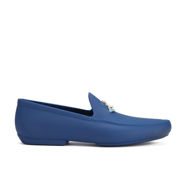 Vivienne Westwood MAN Men's Orb Enamelled Moccasin - Sapphire Blue