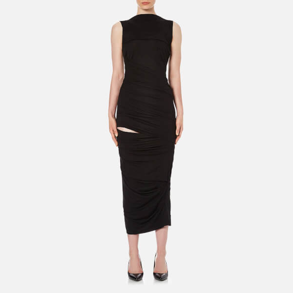 Vivienne Westwood Anglomania Women's Plain Vaduz Slash Dress - Black