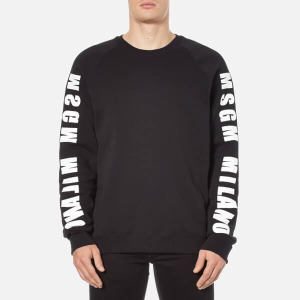 MSGM Men's MSGM Milano Side Logo Sweatshirt - Black
