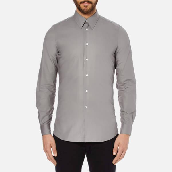 PS by Paul Smith Men's Cuff Detail Long Sleeve Shirt - Grey