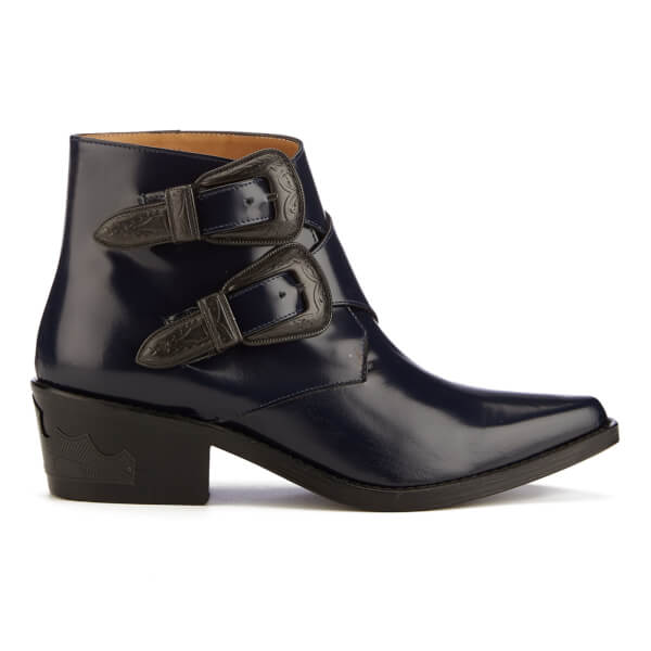 TOGA PULLA Women's Buckle Leather Heeled Ankle Boots - - UK 3 GQPBNF