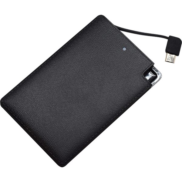 Credit Card Power Bank 2000 MAH - Black