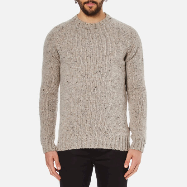Barbour Heritage Men's Netherby Crew Neck Knitted Jumper - Fog